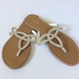Sparkly Crystal Sandals Flip Flops